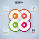 Abstract 3D digital business Infographic. EPS10 stock illustration