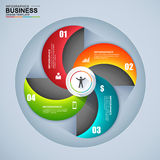 Abstract 3D digital business Infographic. EPS10 Stock Photos