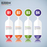 Abstract 3D digital business Infographic Stock Images