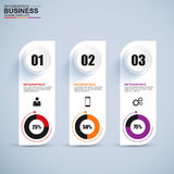 Abstract 3D digital business Infographic. EPS10 Stock Image