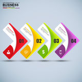 Abstract 3D digital business Infographic. EPS10 Royalty Free Stock Photos