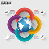 Abstract 3D digital business Infographic Royalty Free Stock Photography