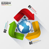Abstract 3D digital business Infographic. EPS10 Stock Photography