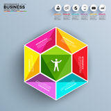 Abstract 3D digital business Infographic Stock Image