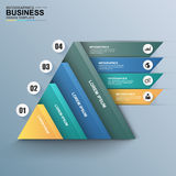 Abstract 3D digital business Infographic Royalty Free Stock Photos