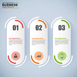 Abstract 3D digital business Infographic. Abstract 3D digital business marketing Infographic. EPS10 Royalty Free Stock Image