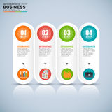 Abstract 3D digital business Infographic Stock Photo