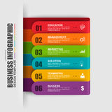 Abstract 3D digital business label Infographic Royalty Free Stock Photography
