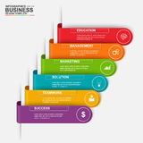 Abstract 3D digital business label Infographic Royalty Free Stock Image