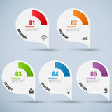 Abstract 3D digital business marketing Infographic Stock Photography