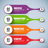 Abstract 3D digital business marketing Infographic Stock Image