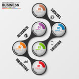 Abstract 3D digital business marketing Infographic Royalty Free Stock Photo