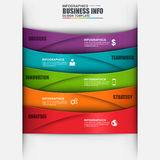 Abstract 3D digital business marketing Infographic. Can be used for business process with 5 options, steps, part, banner, data visualization, number options Royalty Free Stock Photography