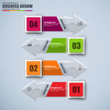 Abstract 3D digital business marketing Infographic. Can be used for business process with 4 options, steps, part, banner, number options, work plan, web design Royalty Free Illustration