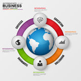 Abstract 3D digital business marketing Infographic. Abstract 3D digital business Infographic. Can be used for workflow process, business menu, user interface royalty free illustration