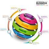 Abstract 3D digital business marketing Infographic Stock Images