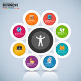 Abstract 3D digital business marketing Infographic Royalty Free Stock Photos