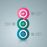 Abstract 3D digital business marketing Infographic. Stock Photo