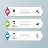 Abstract 3D digital business marketing Infographic. Vector illustrations royalty free illustration