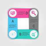 Abstract 3D digital business marketing Infographic. Royalty Free Stock Photography