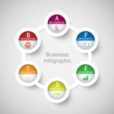 Abstract 3D digital business marketing Infographic. Stock Photography