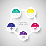 Abstract 3D digital business marketing Infographic. Royalty Free Stock Photos