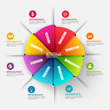 Abstract 3D digital business origami diagram Infographic Royalty Free Stock Photography
