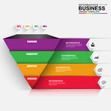 Abstract 3D digital business pyramid Infographic Stock Images