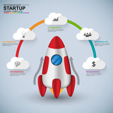 Abstract 3D digital business startup Infographic Stock Image