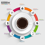 Abstract 3D digital business timeline Infographic. EPS10 Royalty Free Stock Photo