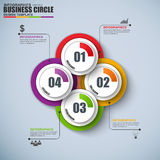 Abstract 3D digital circle Infographic. Can be used for workflow process, business concept with 4 options, parts, steps or processes, banner, diagram, web stock illustration