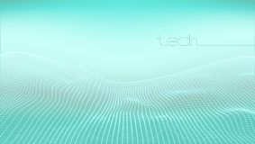 Abstract 3D Digital Grid Terrain Landscape Background. EPS10 Vector Royalty Free Stock Image