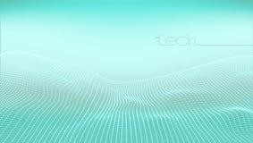 Abstract 3D Digital Grid Terrain Landscape Background. EPS10 Vector stock illustration