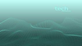 Abstract 3D Digital Grid Terrain Landscape Background. EPS10 Vector vector illustration