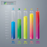 Abstract 3D digital illustration graph set 2. Royalty Free Stock Photo