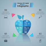 Abstract 3D digital illustration Infographic. Apple icon. Business Infographics origami style Vector illustration. Apple icon Royalty Free Stock Photos