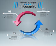 Abstract 3D digital illustration Infographic. Business color Infographics origami style Vector illustration Royalty Free Illustration