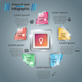 Abstract 3D digital illustration Infographic. Business glass Infographics origami style Vector illustration stock illustration