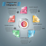 Abstract 3D digital illustration Infographic. Business glass Infographics origami style Vector illustration royalty free illustration