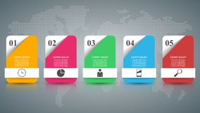 Abstract 3D digital illustration Infographic. Business Infographics origami style Vector illustration Royalty Free Illustration