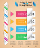 Abstract 3D digital illustration Infographic. Royalty Free Stock Images