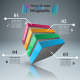 Abstract 3D digital illustration Infographic. Business 3d Infographics origami style Vector illustration Royalty Free Illustration