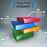 Abstract 3D digital illustration Infographic. Business Infographics origami style Vector illustration on the grey background Vector Illustration