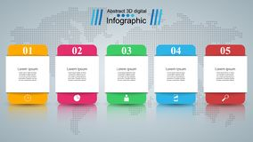 Abstract 3D digital illustration Infographic. Business Infographics origami style Vector illustration. Eps 10 vector illustration