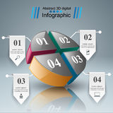 Abstract 3D digital illustration Infographic. Stock Photo