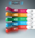 Abstract 3D digital illustration Infographic. Business Infographics origami style Vector illustration. Marketing info Royalty Free Stock Image