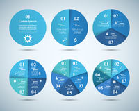 Abstract 3D digital illustration Infographic. Circle icon. Royalty Free Stock Photography