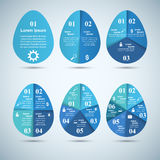 Abstract 3D digital illustration Infographic. Egg icon. Egg blue paper icon on the grey background royalty free illustration