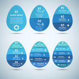 Abstract 3D digital illustration Infographic. Egg icon. Stock Photography