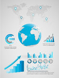 Abstract 3D digital illustration Infographic. Globe Earth,vector shadow smooth Vector Illustration